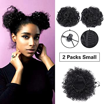 Amazoncom Synthetic Curly Ponytail Short Elastic Drawstring