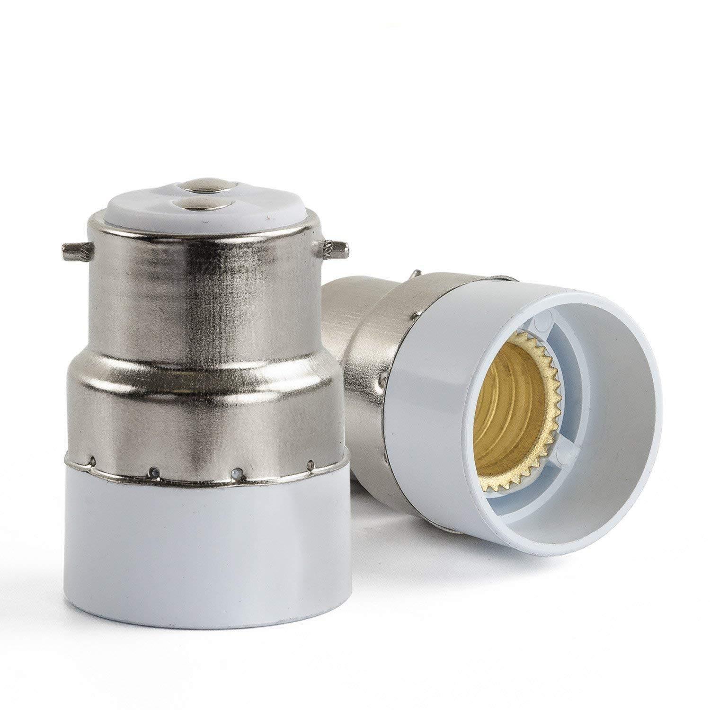 B22 to E14 Lamp Bulb Adapter Holder Socket Base 5 Pcs [Energy Class A+++] [Energy Class A+++] Hakkatronics B22-E14