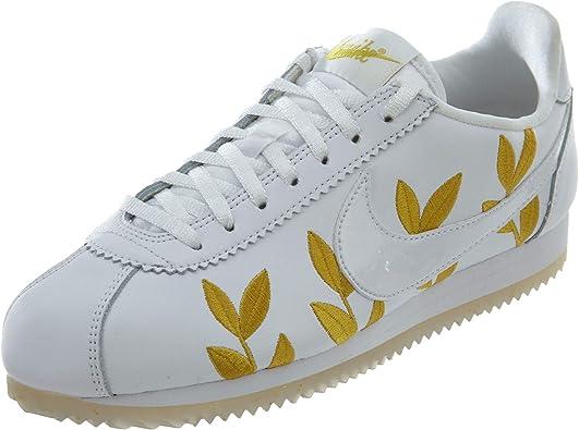 Revelar Rey Lear cartel  Nike Classic Cortez - Zapato casual para mujer, Blanco (Blanco/Blanco-Metálico  Oro), 37 EU: Amazon.es: Zapatos y complementos
