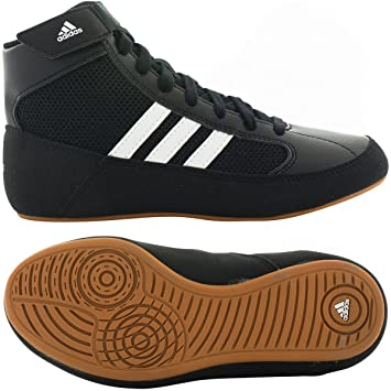 new york 695b7 ad482 adidas HVC Wrestling Shoes - Black White- 9