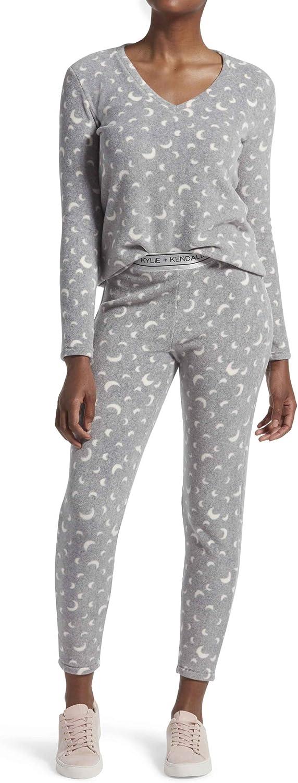 Kendall + Kylie Women's 2 Piece Pajama Sleepwear Set