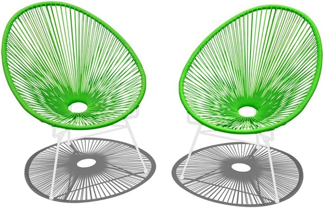 Harmonia Living 2 Piece Acapulco Lounge Chair Set, Lime Green