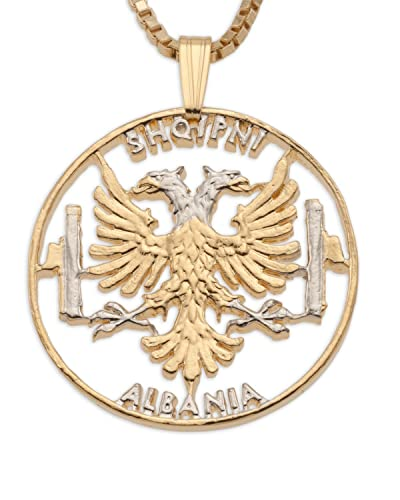Amazon albanian eagle pendant and necklace jewelry albanian eagle pendant and necklace aloadofball Gallery