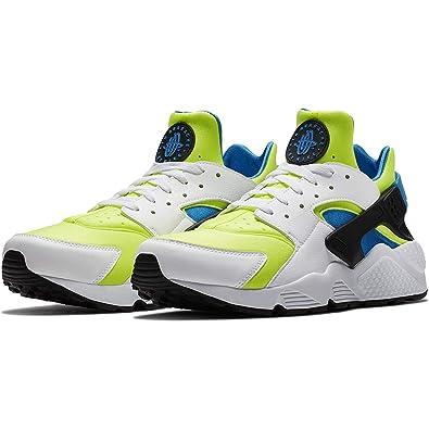 sports shoes a1b54 9bce4 Amazon.com   NIKE AIR Huarache - Men s (10.5, White Volt Black Photo Blue    SE)   Shoes