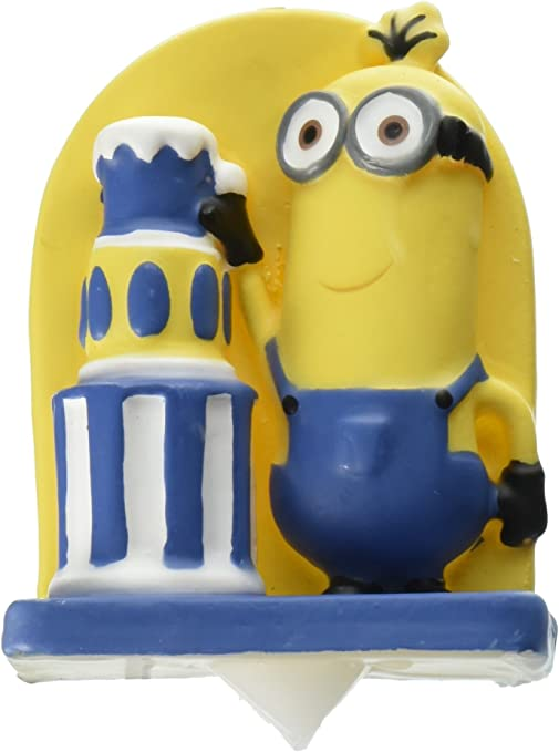 Admirable Amazon Com Wilton 2811 4600 Despicable Me Minions Birthday Candle Funny Birthday Cards Online Fluifree Goldxyz