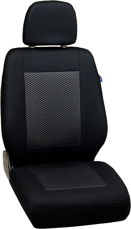 Color Premium Negro con Tri/ángulos Grises Conjunto De Fundas 1+2 Zakschneider Fundas De Asiento para Nissan NV300