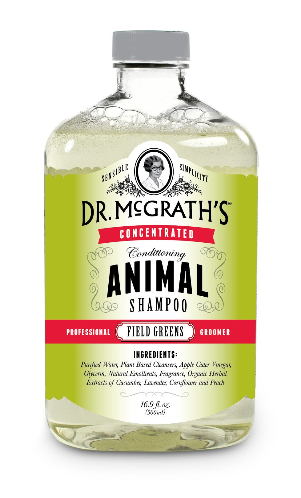 Dr. McGrath's Concentrated Conditioning Animal Shampoo, 500ml, Field Greens, Great for Dogs, Horses and Cats