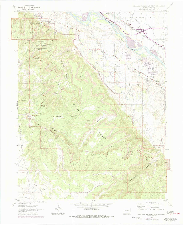 Amazon.com : YellowMaps Colorado National Monument CO topo ...