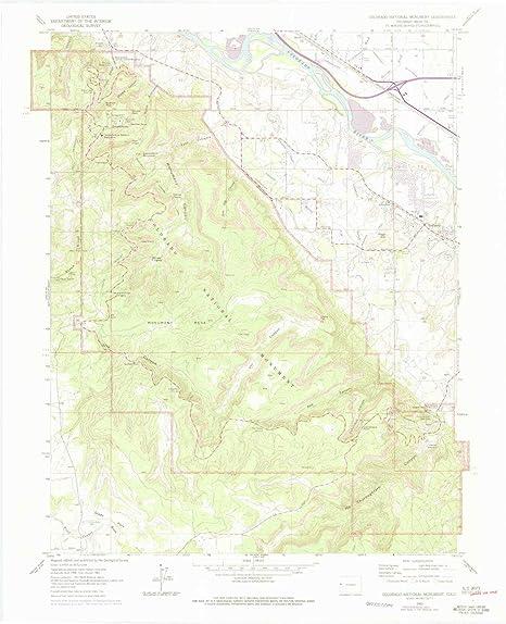 Amazon.com : YellowMaps Colorado National Monument CO topo map, 1 ...