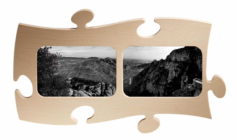 Amazon.de: Puzzle Rahmen, 2 mal 10x15cm - natur