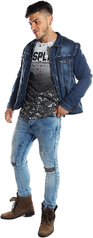 ReRock Veste en jeans vintage bleue XXL: