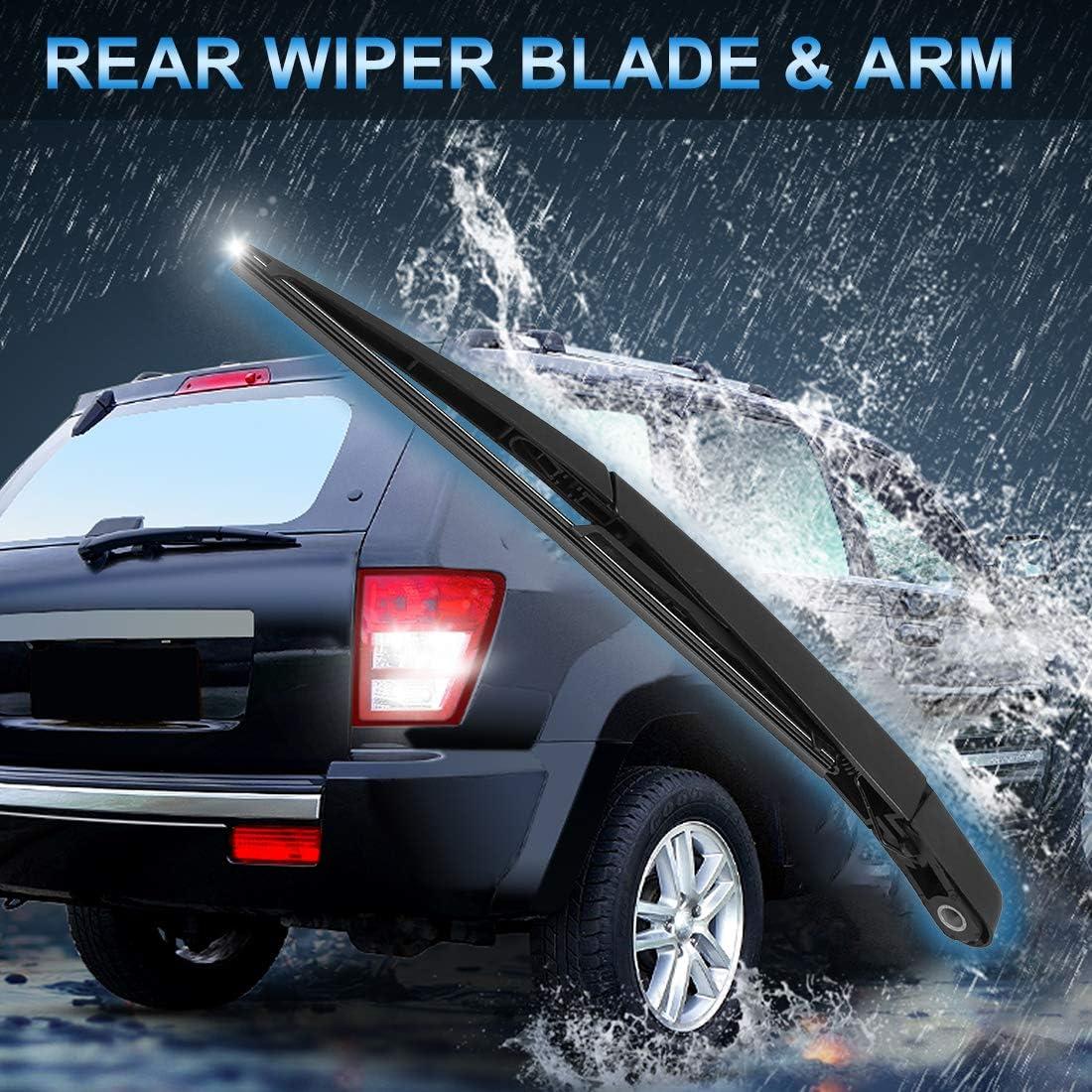 X AUTOHAUX Rear Windshield Wiper Blade Arm Set 305mm 12 Inch for 2006-2007 Mercedes-Benz ML500 Base Sport Utility 4-Door