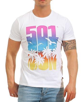 Levis - Camiseta - para Hombre Blanco Blanco S