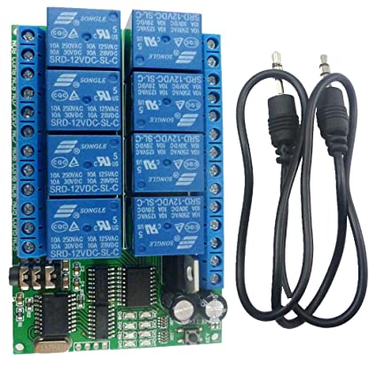 Amazon com: Eletechsup DC 12V 8 Channels DTMF Relay MT8870