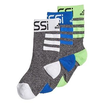 adidas Messi 3 Pair Pack Calcetines, Infantil, Black/Solar Green/Blue/White, EU 27-30: Amazon.es: Deportes y aire libre