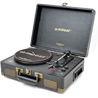 mbeat Uptown Retro Briefcase Turntable with Cassette Player and Bluetooth Streaming