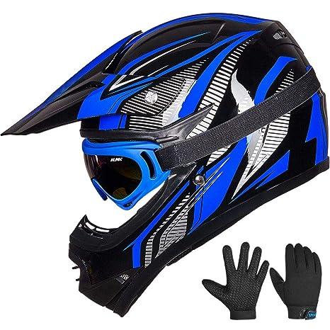 Amazon.com: ILM - Gafas para casco de motocross para niños y ...