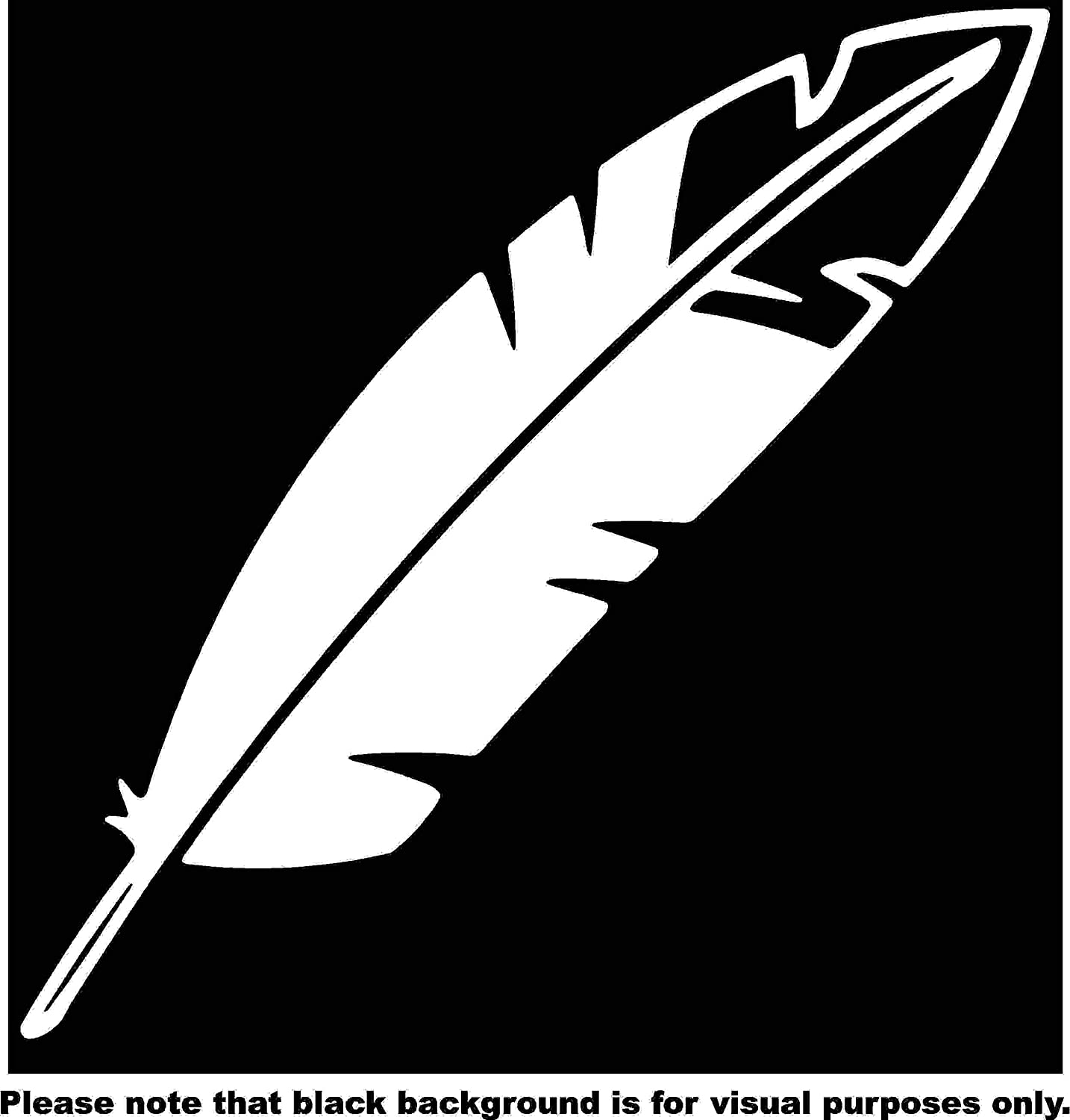 Feather Bald Eagle Native American Car Window Tumblers Wall Decal Sticker Vinyl Laptops Cellphones Phones Tablets Ipads Helmets Motorcycles Computer Towers V and T Gifts