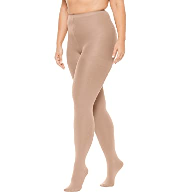 4d3d459a3f650 Comfort Choice Women's Plus Size 2-Pack Opaque Tights at Amazon Women's  Clothing store: