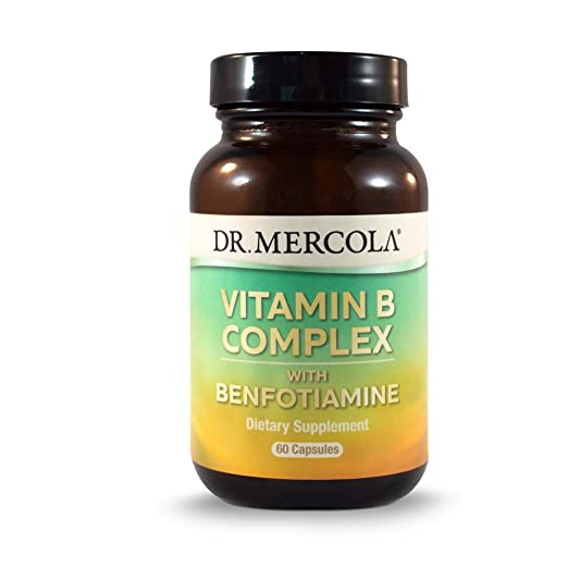 Dr. Mercola Vitamin B Complex with Benfotiamine - 60 Capsules