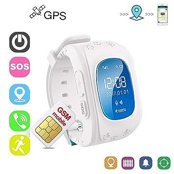 Winnes Reloj Localizador Niños GPS Localizador Niños Pulsera ...