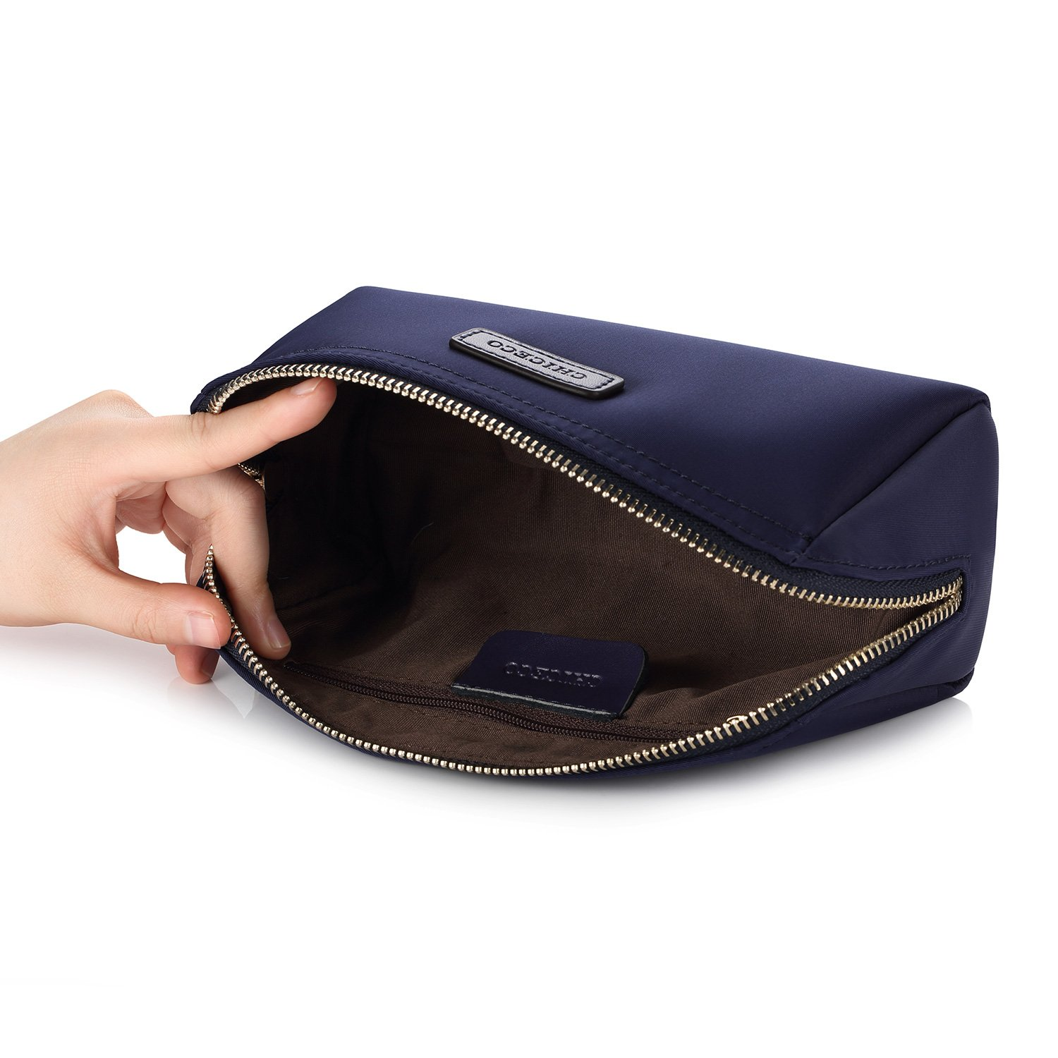 CHICECO Handy Cosmetic Pouch Clutch Makeup Bag - Navy Blue by CHICECO (Image #4)