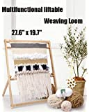 """27.6""""H x 19.7""""W Weaving Loom with Stand Wooden Multi-Craft Weaving Loom Arts & Crafts, Extra-Large Frame, Develops…"""