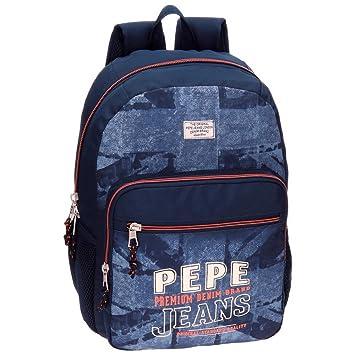 Pepe Jeans Dales Jr Mochila Escolar, 42 cm, 21.42 litros, Azul: Amazon.es: Equipaje