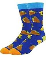 Happypop Men's Cool Crazy Pattern Novelty Funny Cotton Crew Dress Socks