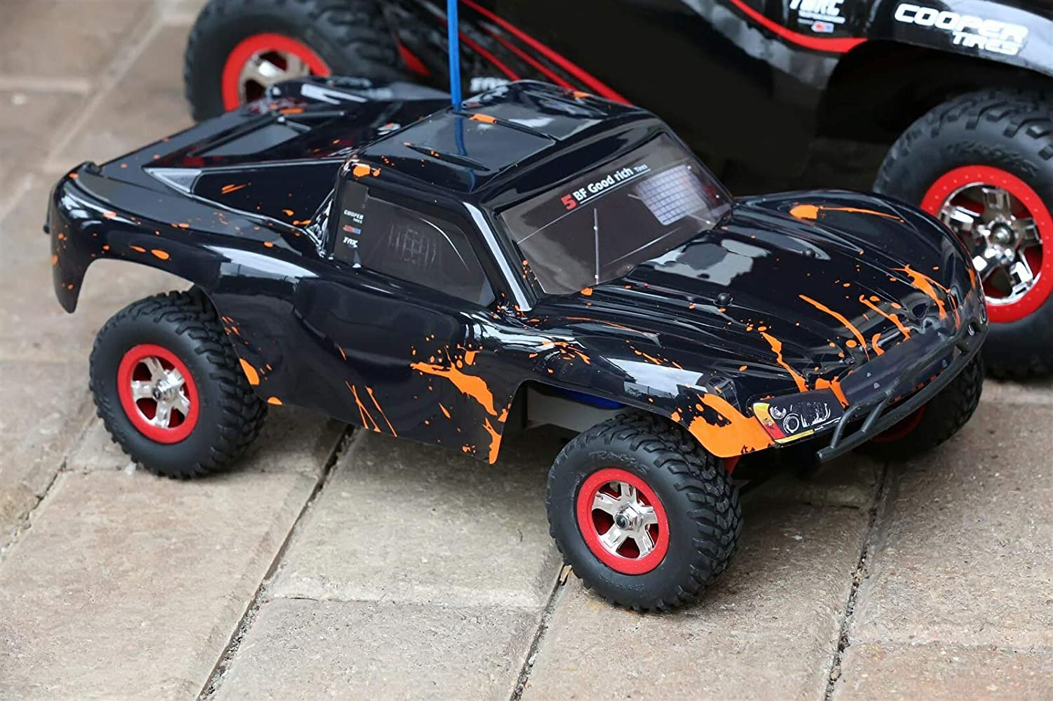 SummitLink Compatible Custom Body Muddy Orange Over Black Replacement for 1//16 Scale RC Car or Truck SSMN-BR-01 Truck not Included