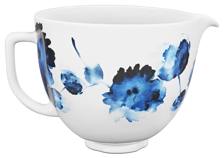 KitchenAid KSM2CB5PIW Accs Portable Appliance Ceramic Bowl, 5 quart, Ink Watercolor
