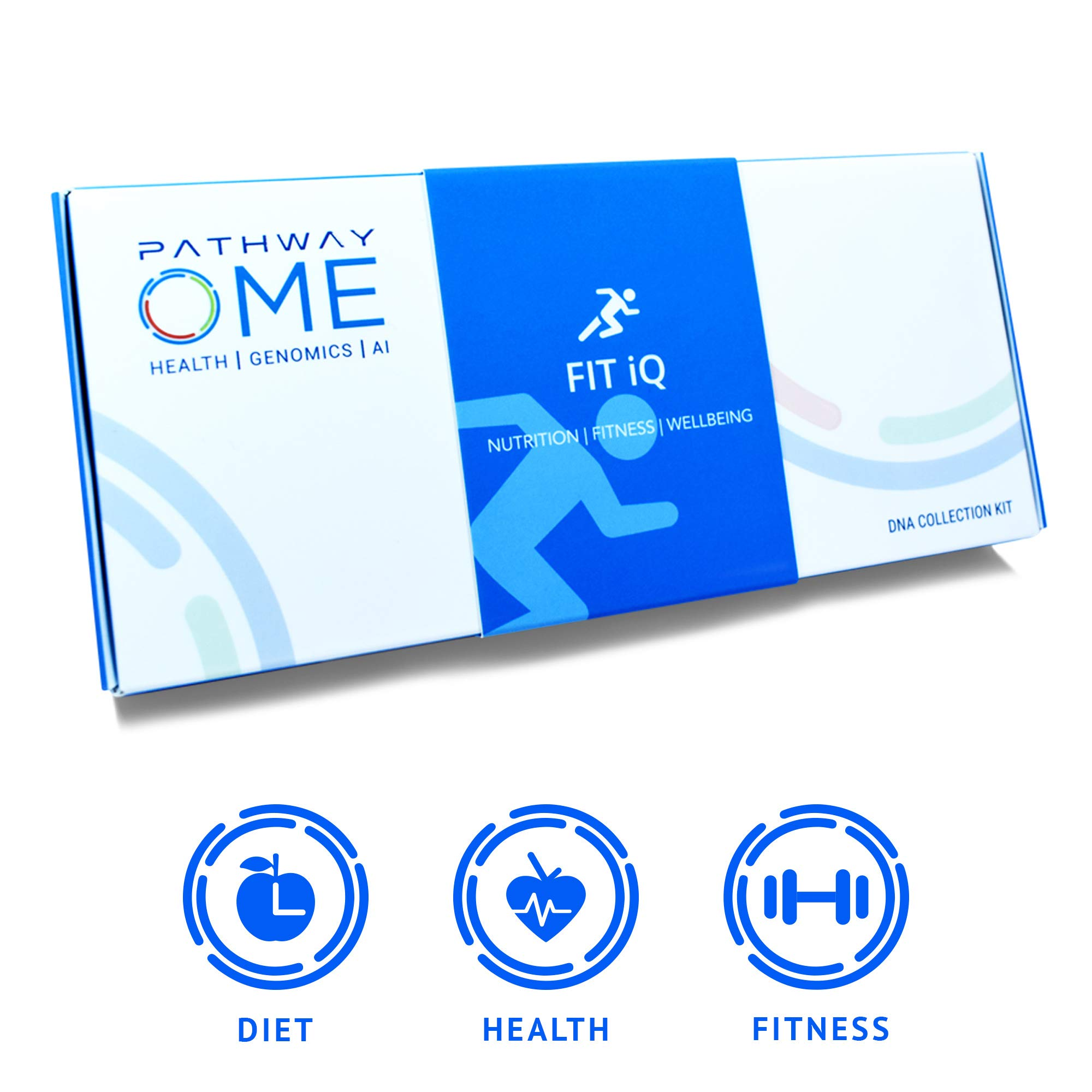Pathway Genomics Fit iQTM Home DNA Test Kit - Personal Genetic Testing for Health, Wellness, and Body Fitness, Diet Planning, Eating Behaviours, Food Sensitivity, Exercise Response, and Weight by Pathway Genomics