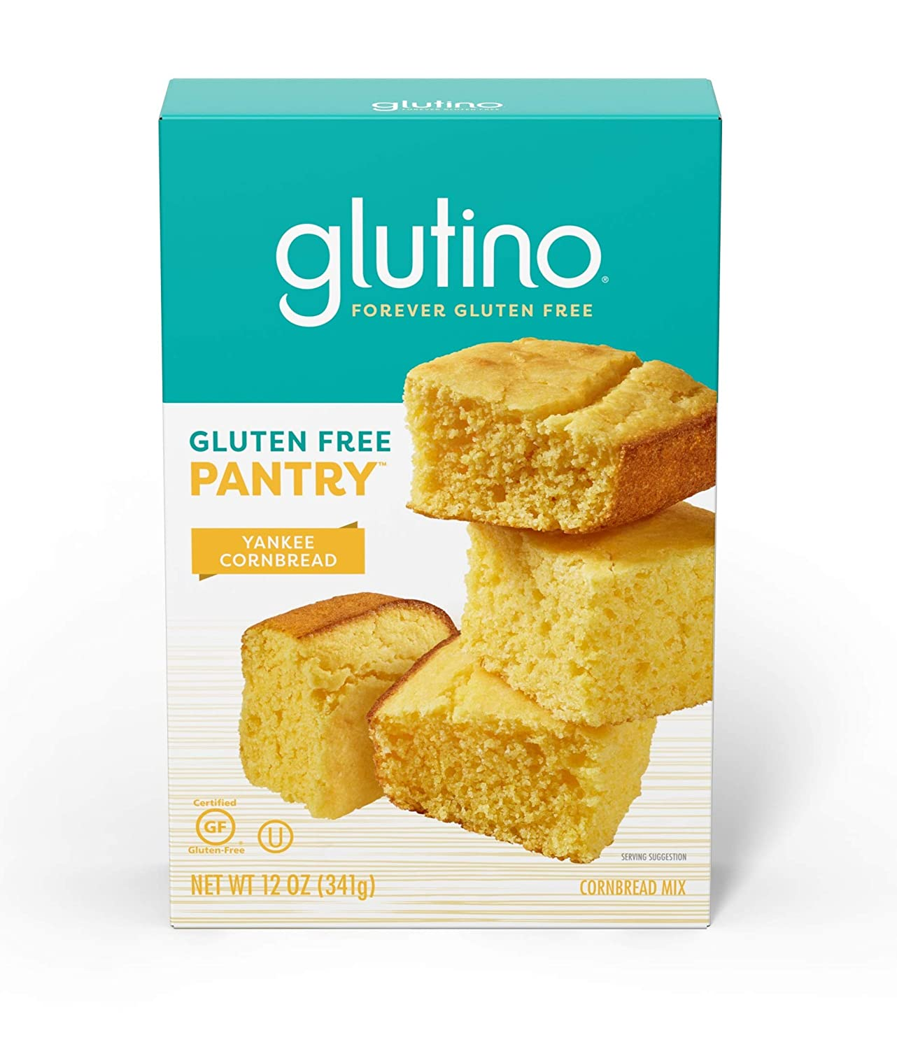 Gluten Free by Glutino Pantry, Baking Mix, Yankee Cornbread, Classic Taste, 12 Ounce