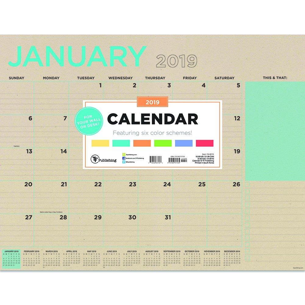 "Read Online Time Factory Kraft 22"" x 17"" January -December 2019 Desk Pad Calendar (19-8215) pdf"