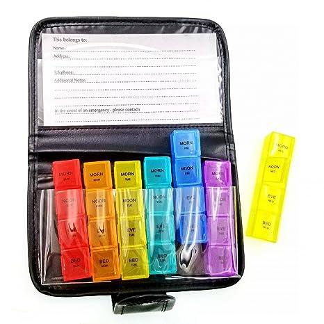 5cda3ad6d3 JZK 7 Giorni 28 comparti portapillole settimanale tascabile giornaliero  scatola porta pillole organizzatore plastica contenitore pillole