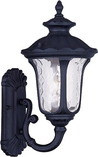 Livex Lighting 7850-04 Oxford 1 Light Outdoor Wall Lantern, Black