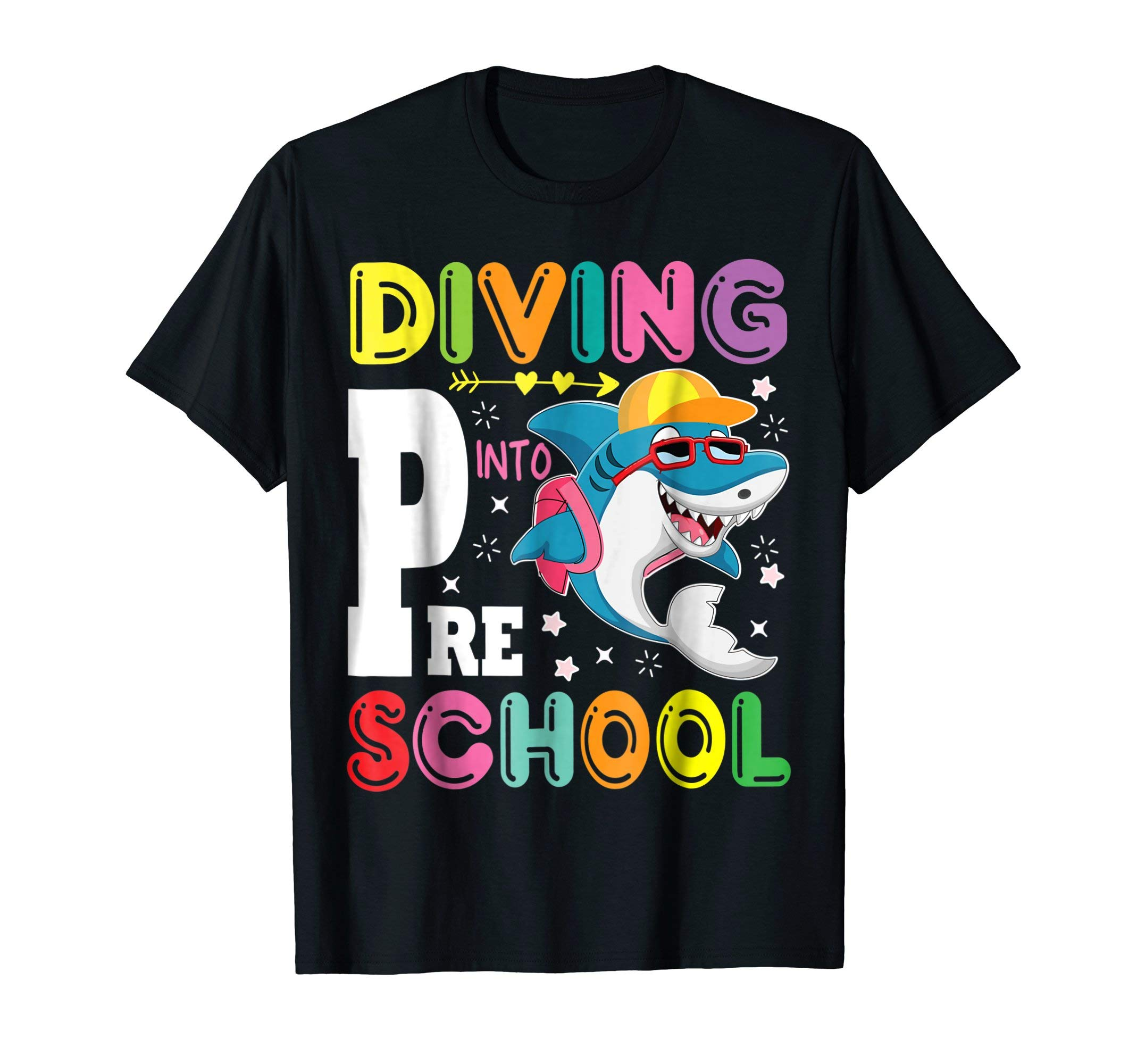 Shark Bring Book Bag Go To Class shirt Diving Into Preschool