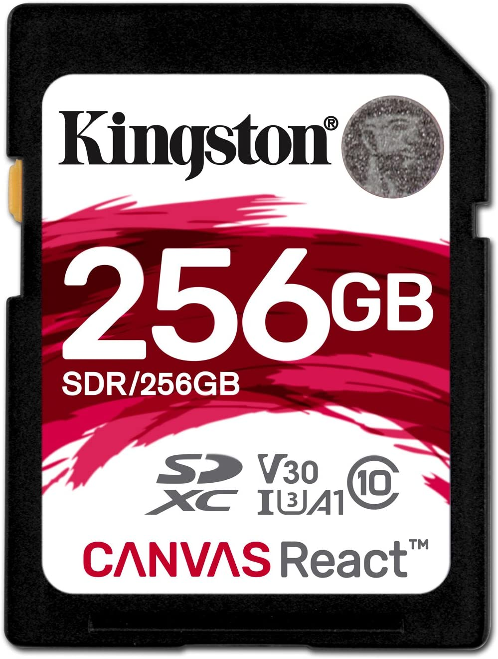 Kingston Canvas React 256GB SDXC Class 10 SD Memory Card UHS-I 100MB/s R Flash Memory High Speed SD Card (SDR/256GB)