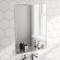 600 x 800 mm Designer Bathroom Wall Mirror + Glass Shelf MC150
