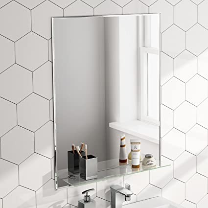 600 x 800 mm designer bathroom wall mirror glass shelf mc150 rh amazon co uk
