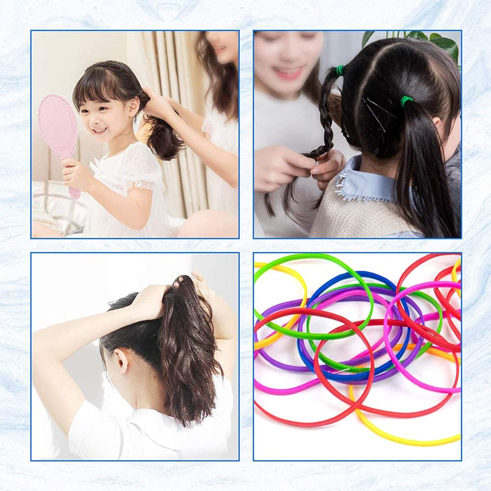 EUYuan 2 Roll Coloured Rubber Band Balls,Elastic Band Ball Document Organizing for DIY Arts Crafts School Office Fixed Pens,Flowers Plants,Home