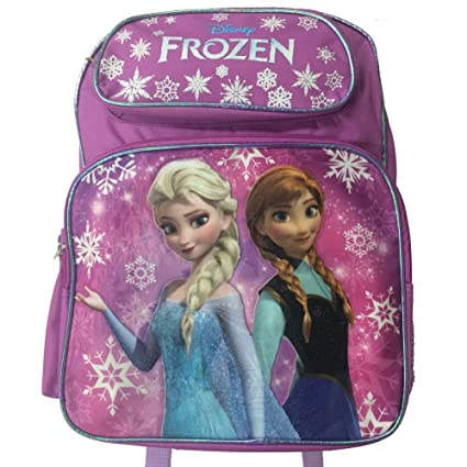 a74c7affea Image Unavailable. Image not available for. Color  Disney Frozen Princess  Elsa and Anna Large Purple School Backpack