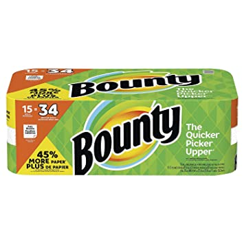 Bounty Paper Towels, White, (15 Gigantic Rolls)