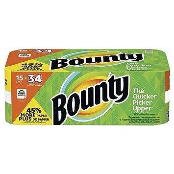 Bounty Paper Towels, White, (15 Gigantic Rolls)