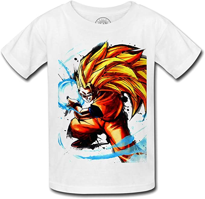 Fabulous T Shirt Enfant Sangoku Super Saiyan Mode 3 Goku Kameha Dragon Ball Z Manga Dbz Fabulous Amazon Fr Vetements Et Accessoires
