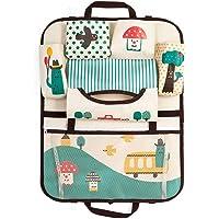 DoMyfit Organiseur de siège de voiture pour accessoires de voyage de bébé et enfants Sac de rangement à suspendre Protection de l'arrière du siège