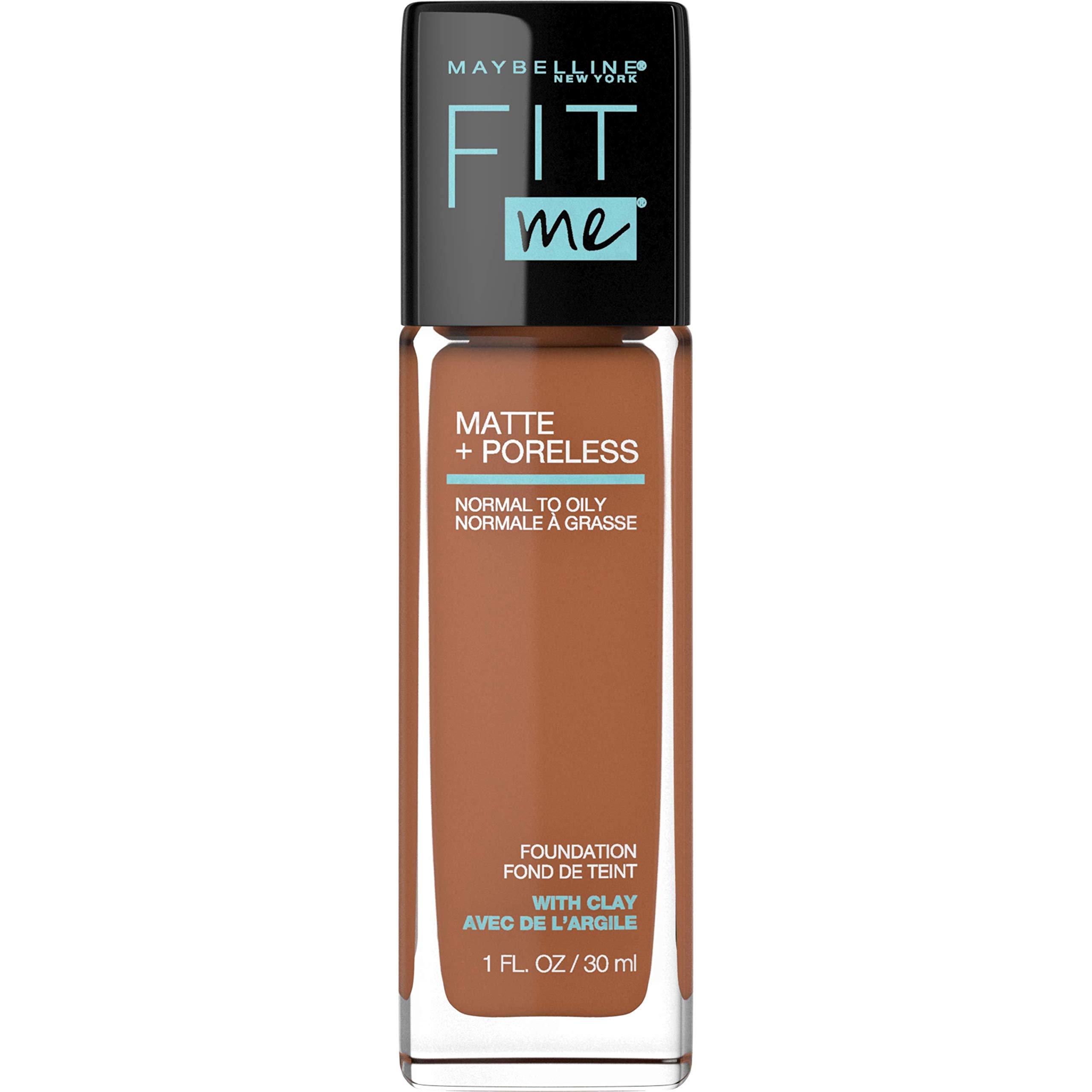Maybelline Fit Me Matte + Poreless Liquid Foundation Makeup, Coconut, 1 fl. oz. Oil-Free Foundation