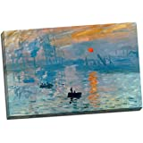 Claude Monet Sunrise Impression Canvas Print Picture Wall Art Large 30x20 Inches (76.2cm x 50.8cm)