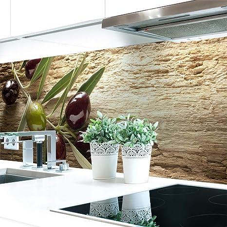 Küchenrückwand Oliven Premium Hart Pvc 0 4 Mm Selbstklebend 220x51cm