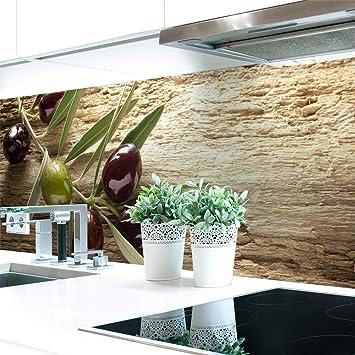 Amazonde Küchenrückwand Oliven Premium Hart Pvc 0 4 Mm